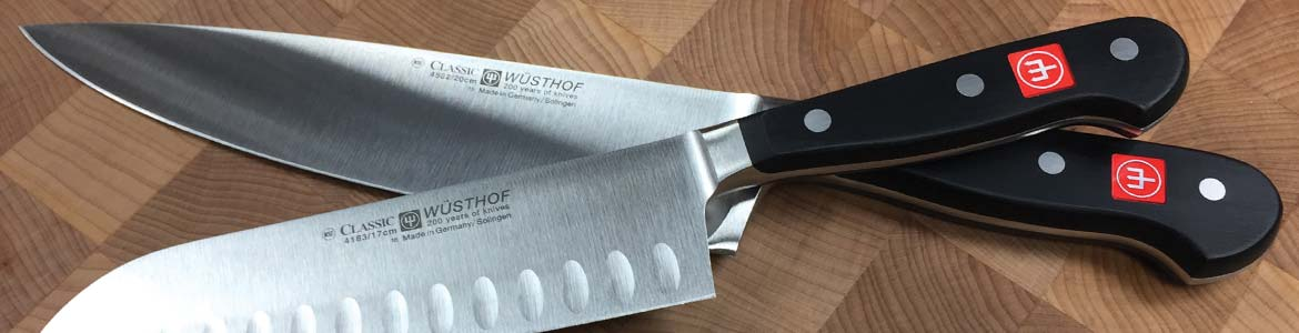 Wusthof Cutlery two knives on cutting board