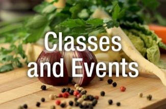 Classes and Events in cooking and food tasting