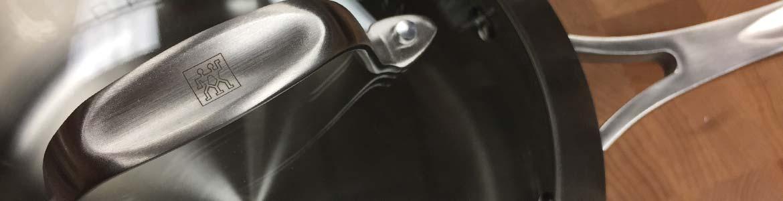 ZWILLING J.A. HENCKELS cookware pot on butcher block