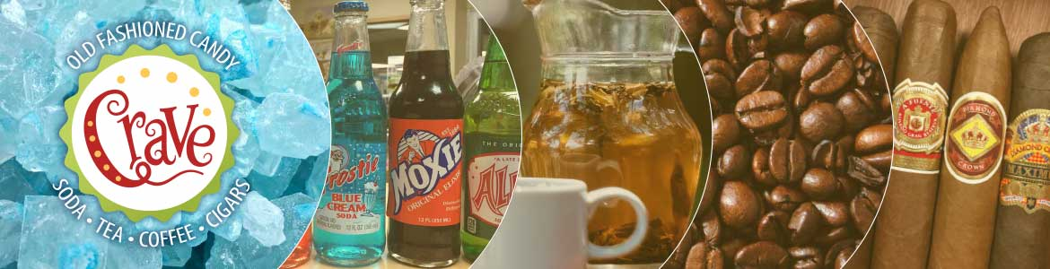 Crave Old-Fashioned Candy, soda, tea, coffee and cigars images