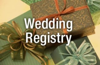Wedding regisrty gifts with a special discount